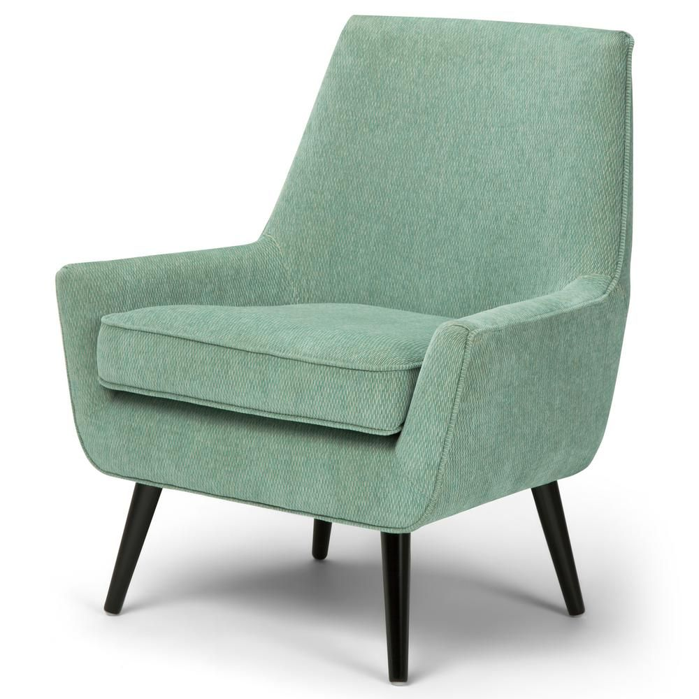 Simpli Home Warhol 30 In Wide Mid Century Modern Accent Chair In