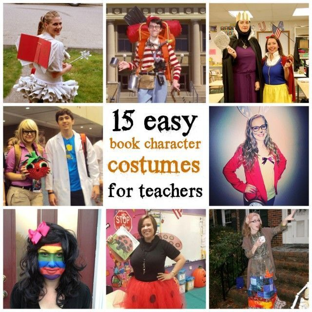 15 easy book character costumes for teachers