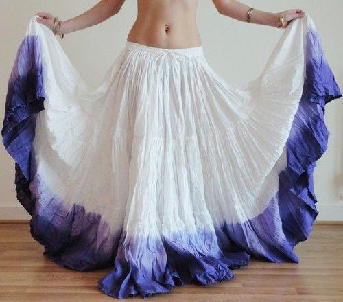 Black Skirt 25 Yard 4 Tier Cotton Belly Dance Tribal Gypsy  Flamenco Jupe ATS
