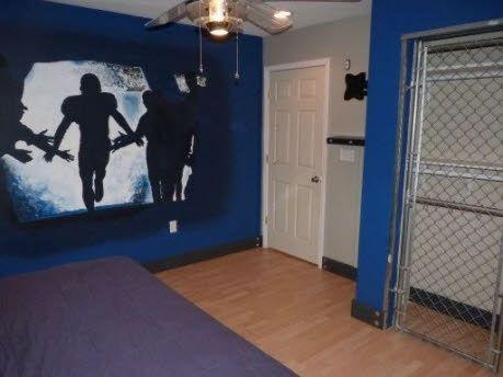 boys rooms paint ideas | Football Shadow | Boys Room Painting Ideas