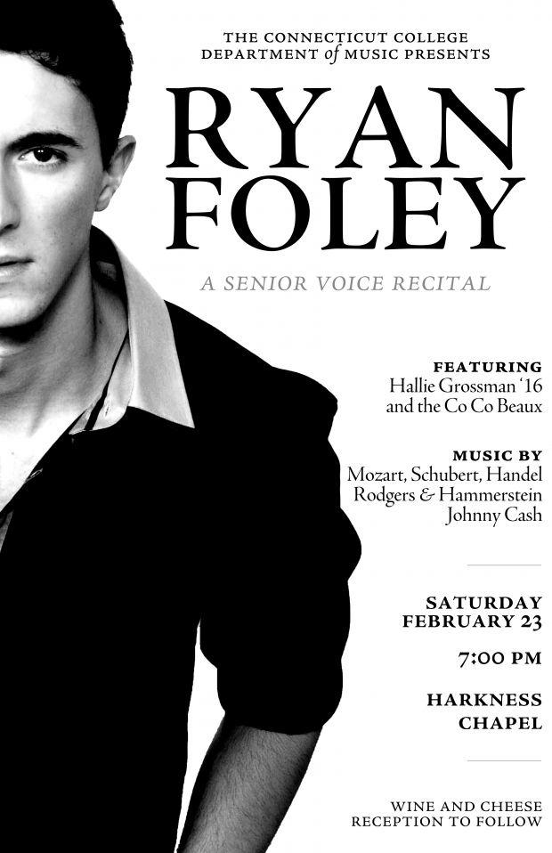 Campus Celebrity Ryan Foley Recital Poster Piano Recital Recital