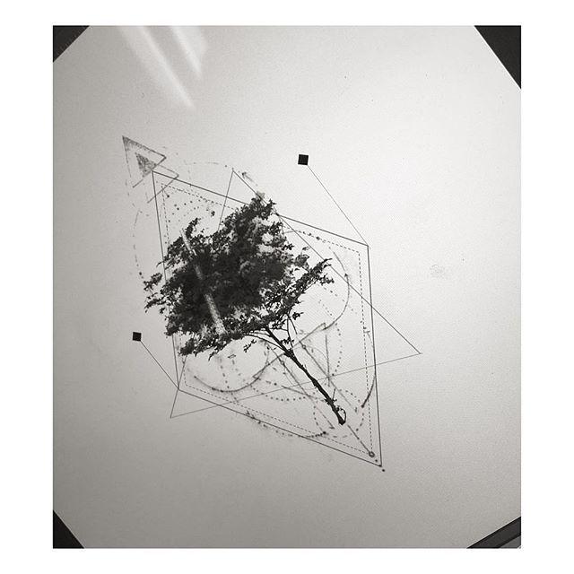 : Tree geometric design ...ing . #tattooistbanul #tattoo #tattoos #blackworkers…