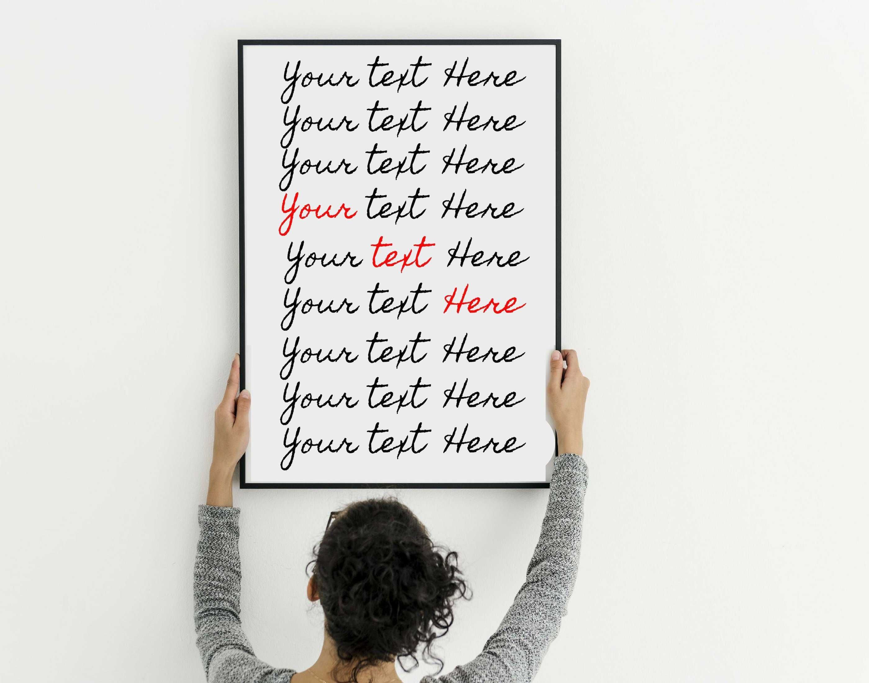 Photo of Custom poem print wall art framed or art print wall art decor