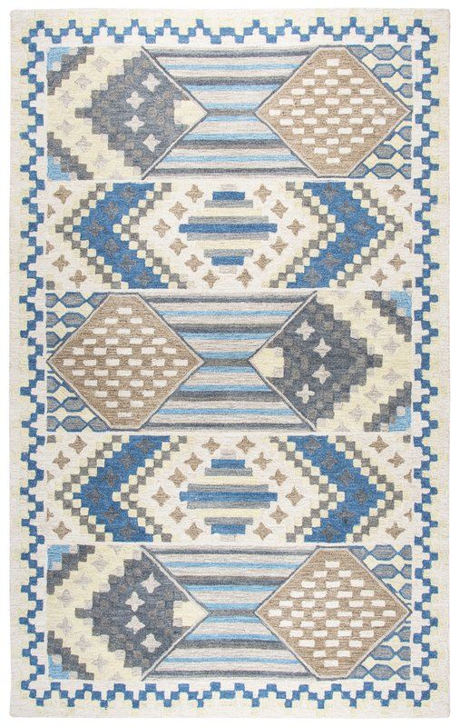 Duron HandTufted Blue/Gray Area Rug Blue gray area rug