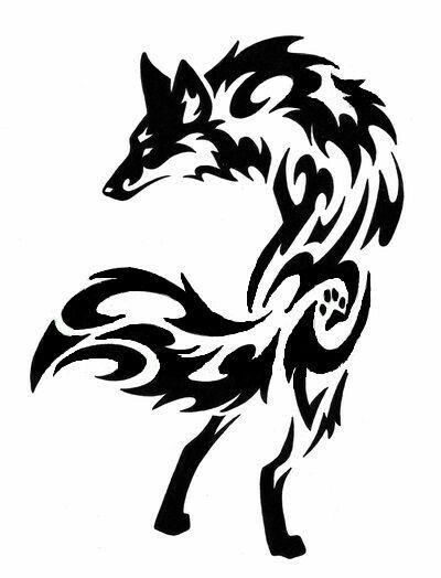 Pin By Chad Smith On Tattoo Tribal Fox Tribal Wolf Tattoo Wolf Tattoo Design