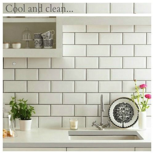 White subway tile gray grout not black too stark  don   know whether to go or also what   your style of in for the home pinterest grey
