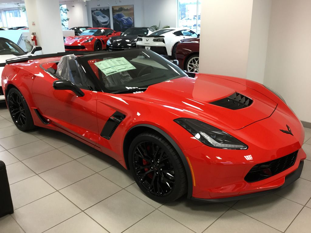 2016 Corvette Z06 Convertible In Torch Red With Black Interior And The 2lz Package Red Corvette Corvette Convertible Camaro Convertible