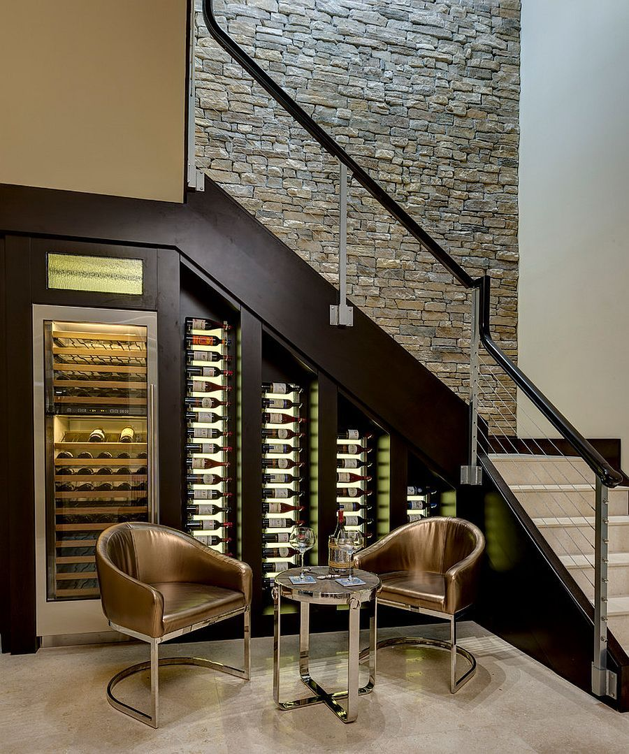 Best 20 Eye Catching Under Stairs Wine Storage Ideas Under 400 x 300