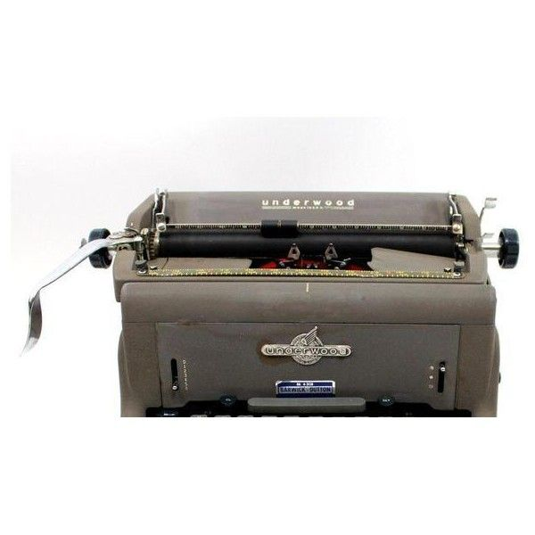 1950s Underwood 150 Typewriter With Cover ($499) ❤ liked on Polyvore featuring home, home decor and 1950s home decor