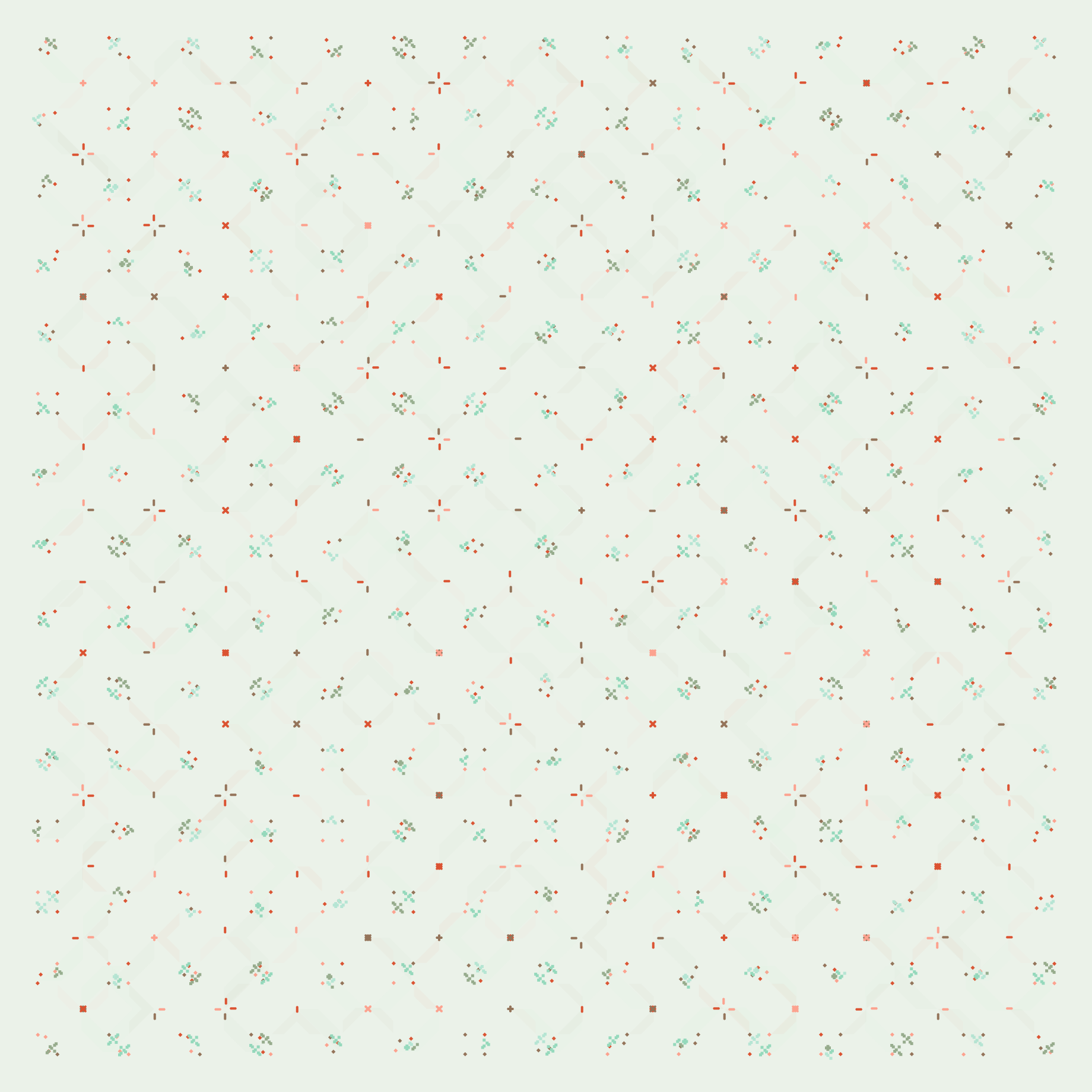 RandomPattern B - Christmas. Made by Code for Walls.