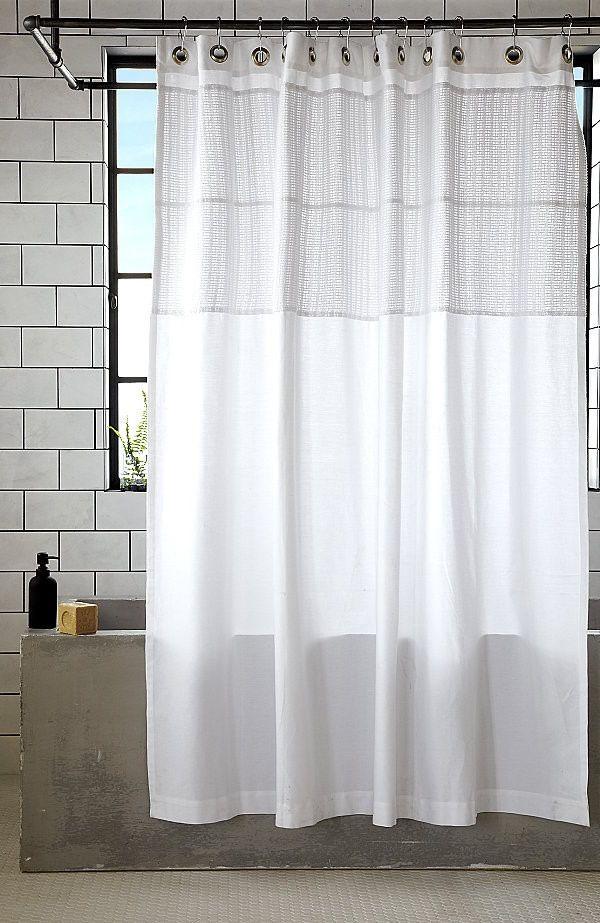 Duschvorhang Modern weiße baumwolle duschvorhang bad
