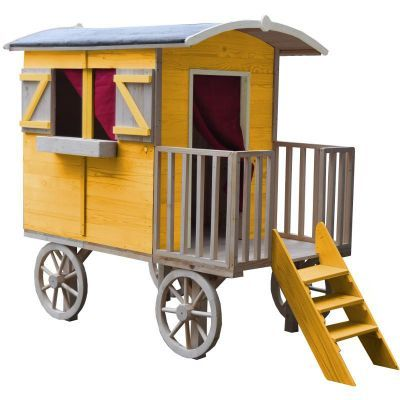 cabane pour enfant roulotte en bois lucky x x une cabane une roulotte une. Black Bedroom Furniture Sets. Home Design Ideas