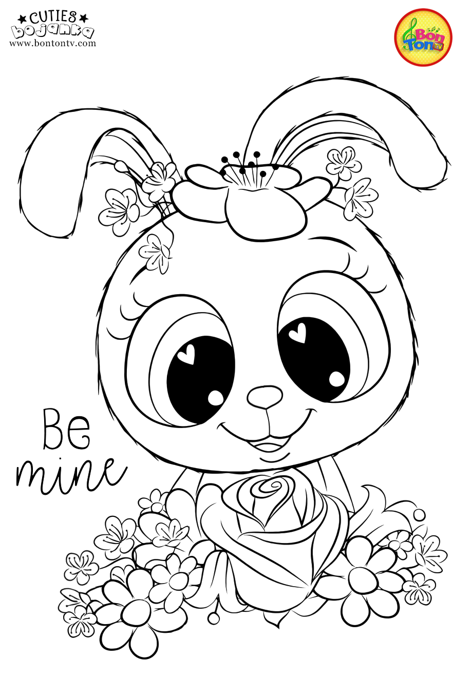 Cuties Coloring Pages for Kids - Free Preschool Printables ...