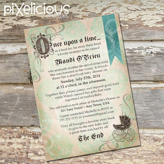 Hey, I found this really awesome Etsy listing at https://www.etsy.com/listing/191887395/storybook-custom-baby-shower-invitation