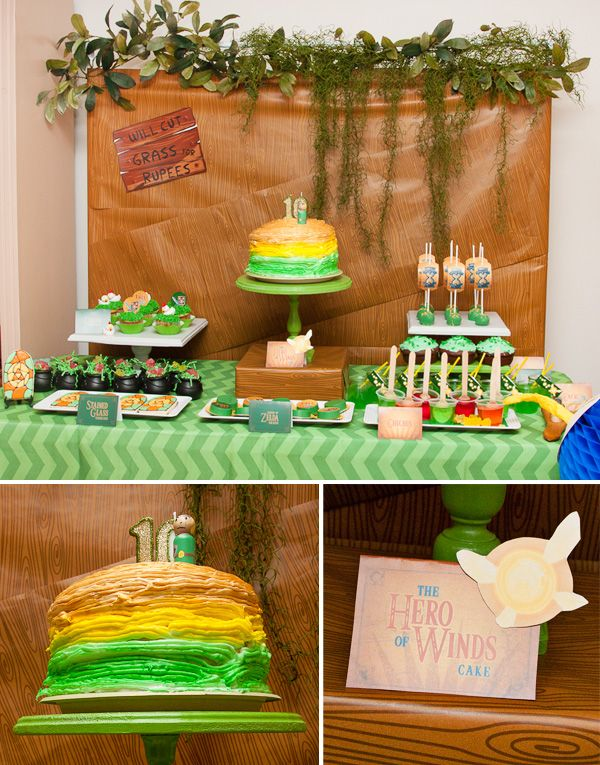 Awesome legend of zelda birthday party birthdays for Decoration zelda