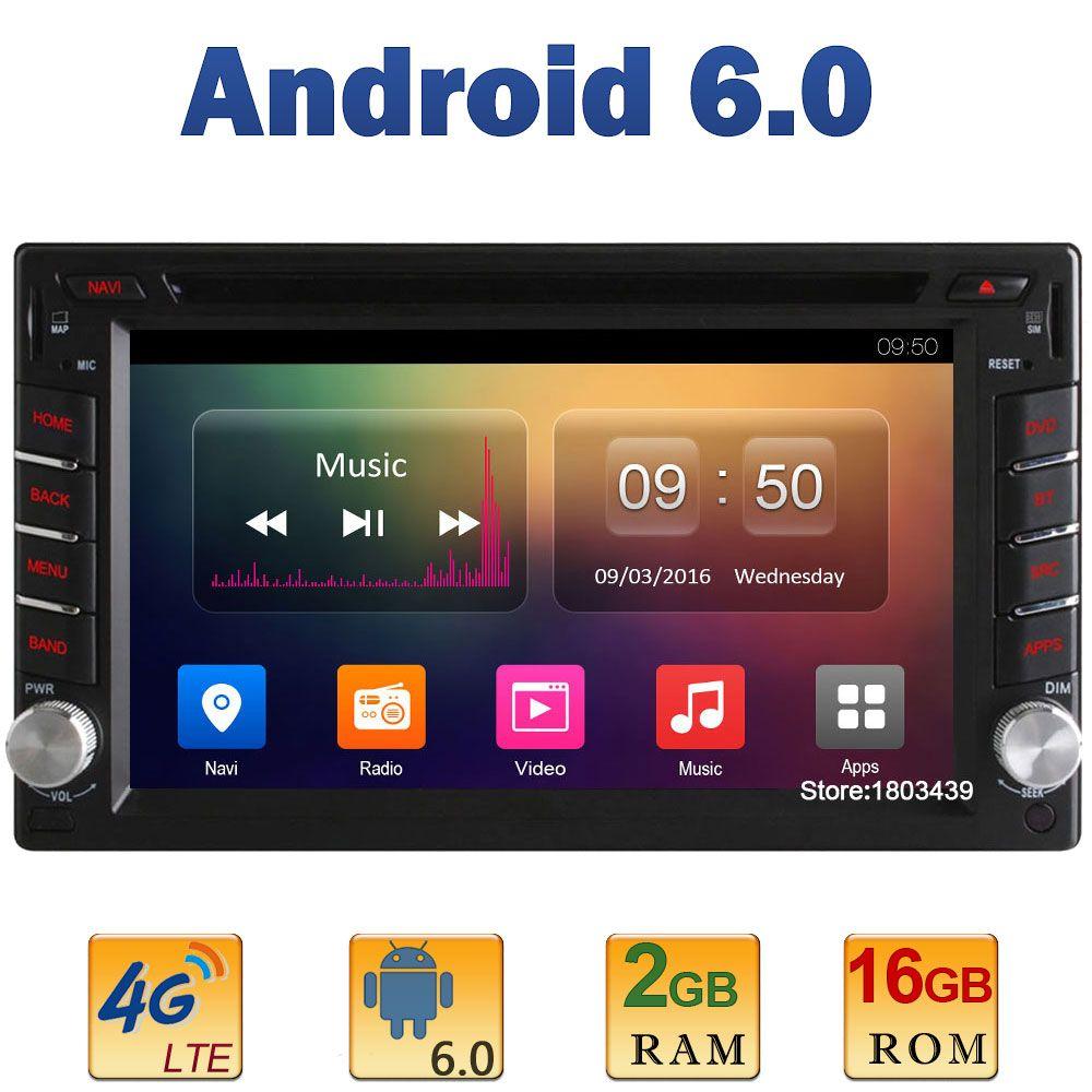 Android 6 0 Quad Core 2gb Ram 16gb Rom 4g Lte Sim Wifi 2din
