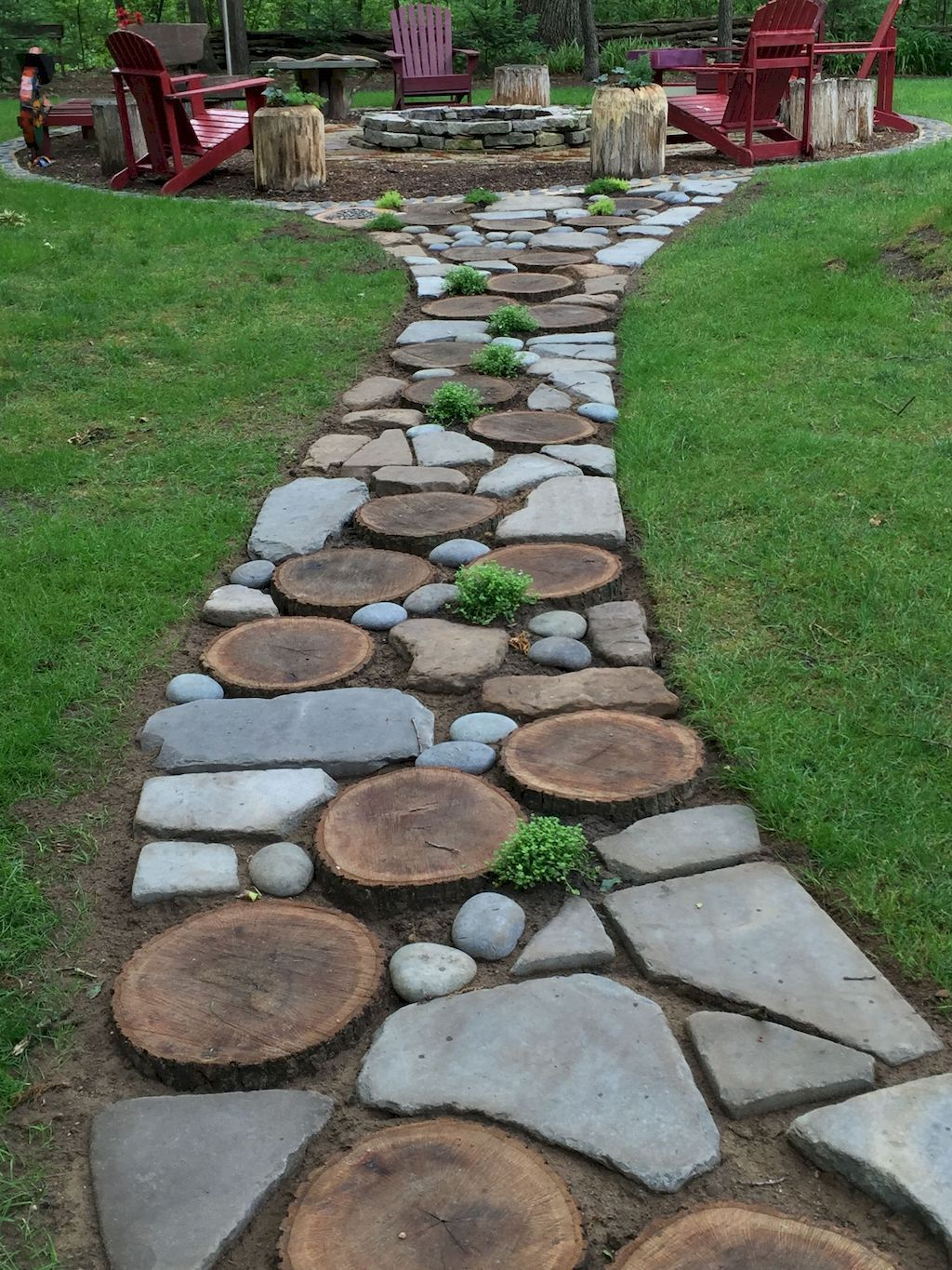 Natural garden walk ways from large stones and flagged stones Part 27 | Elonahome.com