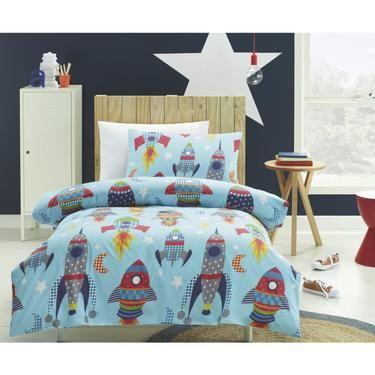 Rocket Toddler Bed kids house rocket quilt cover set   spotlight australia   toddler
