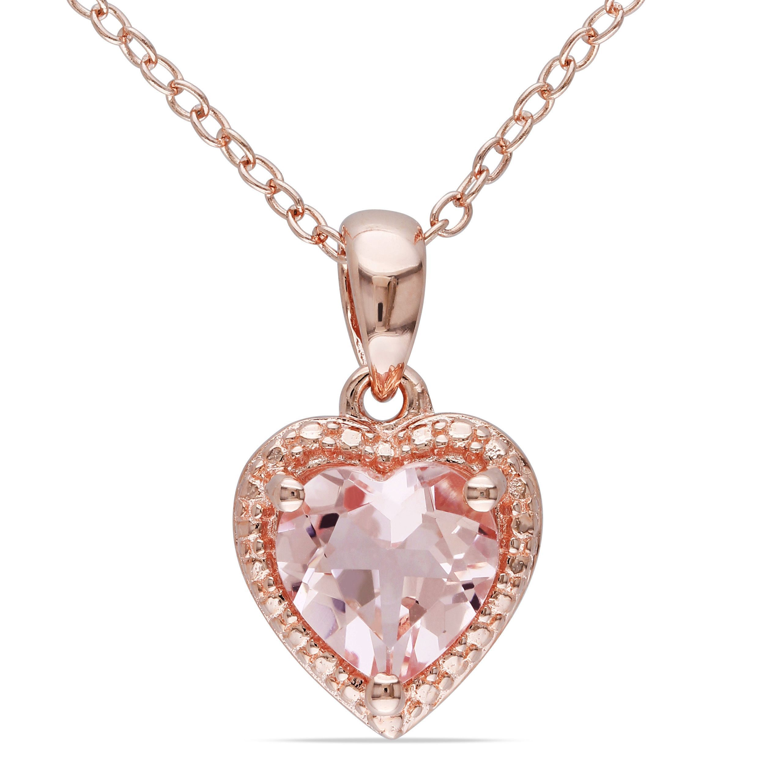 necklace vanilla gold with tw le diamonds chocolate strawberry in vian morganite and pendant