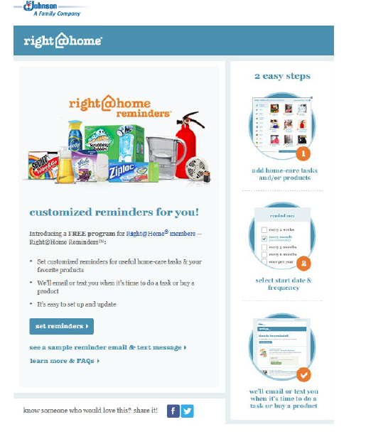 Johnson  Johnson OptIn Email For RightHome Reminders  PG