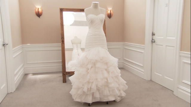 Say Yes To The Dress Dennis Basso Airy Organza Mermaid Dress