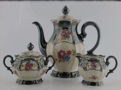Dzbanek Cukiernica Mlecznik Tillowitz Tulowice 1928 1945 Tea Pots Tea Tableware