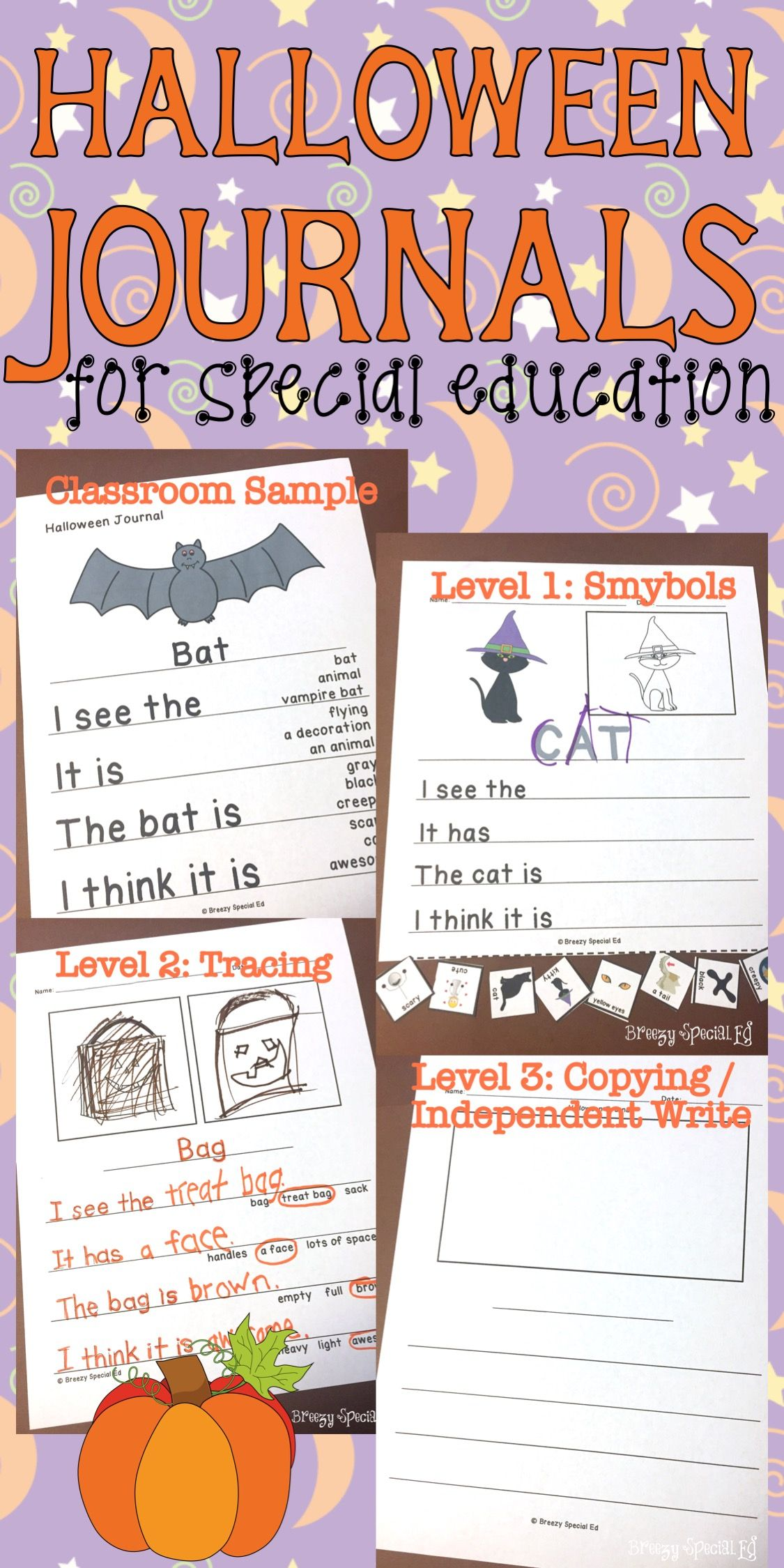 Halloween Themed Differentiated Journal Writing For