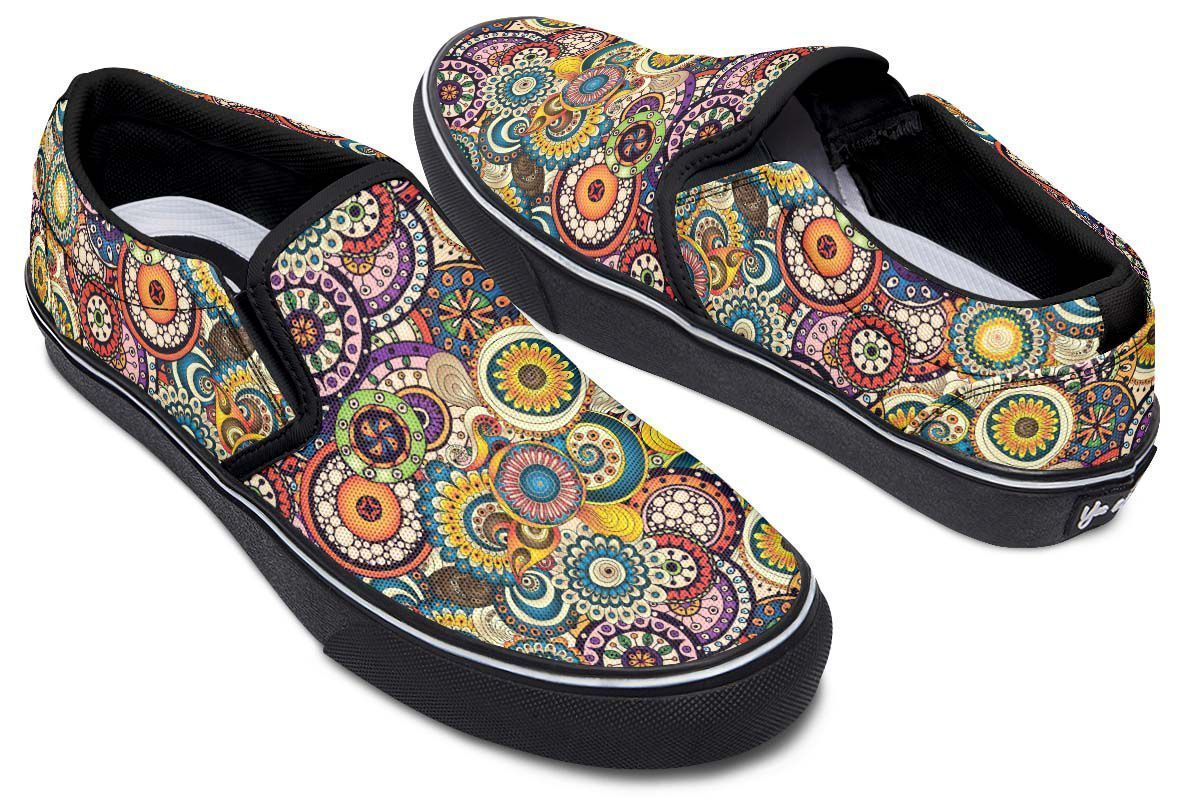 Womens Cotton Espadrille cannabis seamless marijuana pattern Classic Shoes