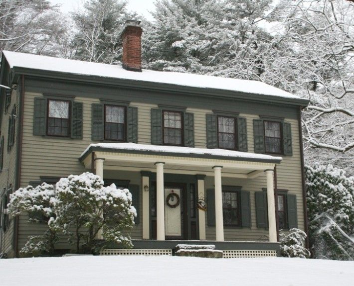 Federal style house in snow Home colors Pinterest Federal