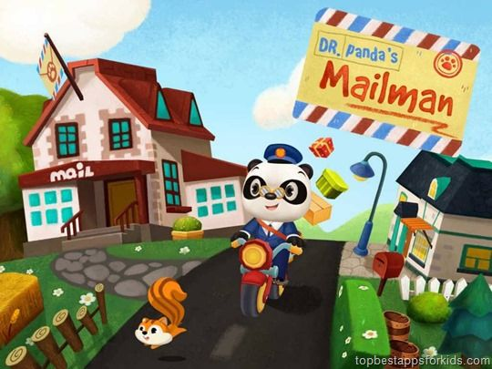 Dr  Panda's Mailman | Postman game for kids by Tribe Play