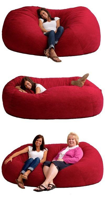 Bean Bags And Inflatables 48319: Giant Bean Bag Chair Oversized 7 Ft Xxl  Large Comfort