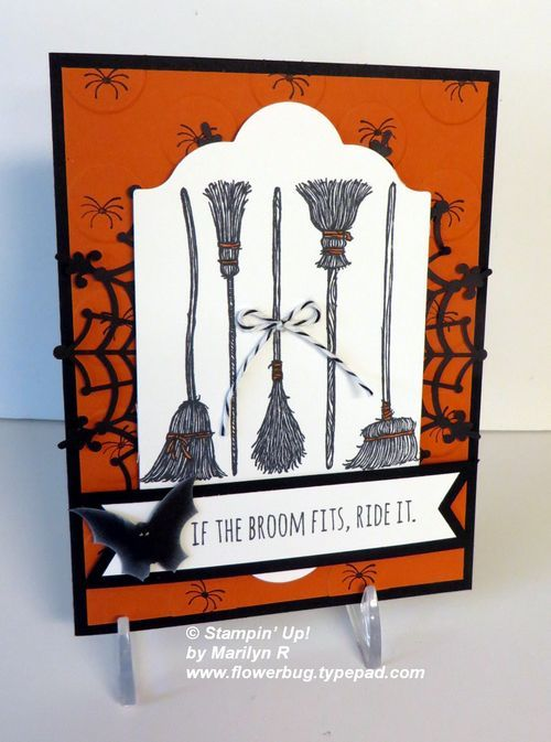 If the Broom Fits!  Punch Art Bat! from Flowerbug's Inkspot
