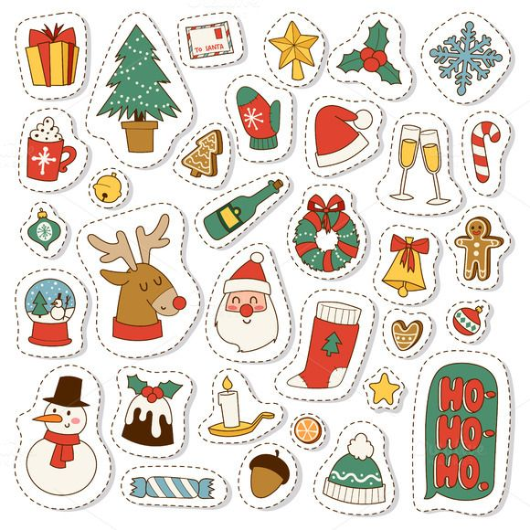 Vector Christmas Symbols Symbols Icon Illustrations And Graphics
