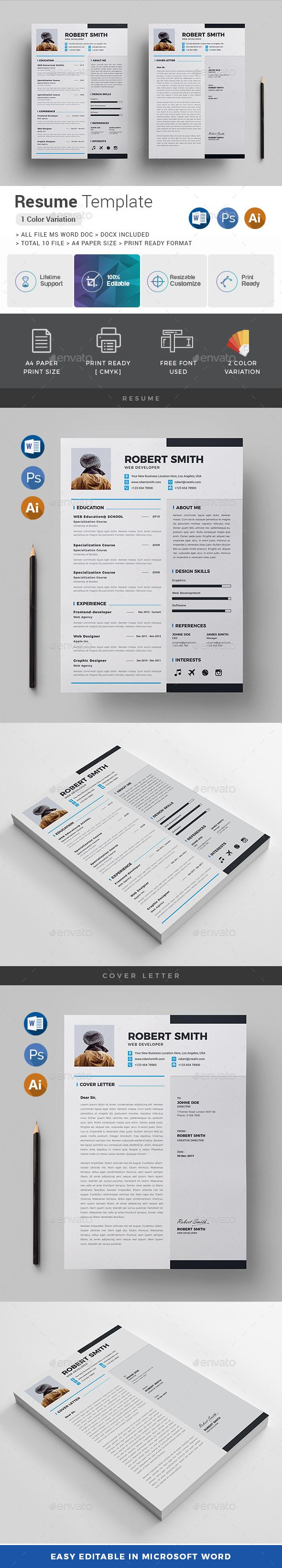Simple Resume Exampleprin Resume  A4 Paper Paper Size And Adobe Photoshop