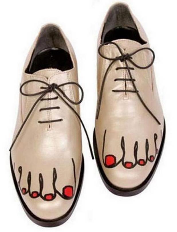 Zapatos Dibujo Pie Zapatos Feos Zapatos Raros Zapatos Personalizados