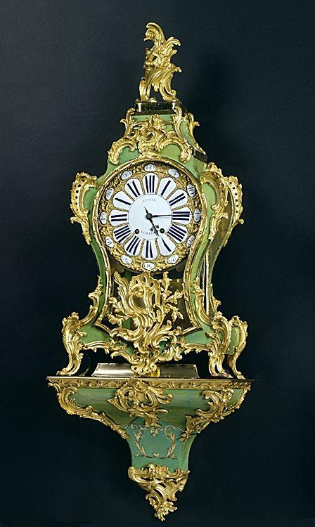 A Louis XV Gilt-Bronze Mounted Corne Verte Bracket Clock - French c.1750