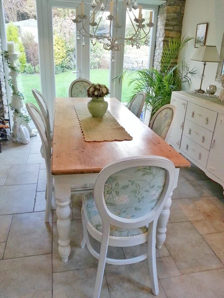 Dining Room Chairs Painted With Old White Chalk Paint® To Impressive Chalk Paint Dining Room Chairs Design Decoration