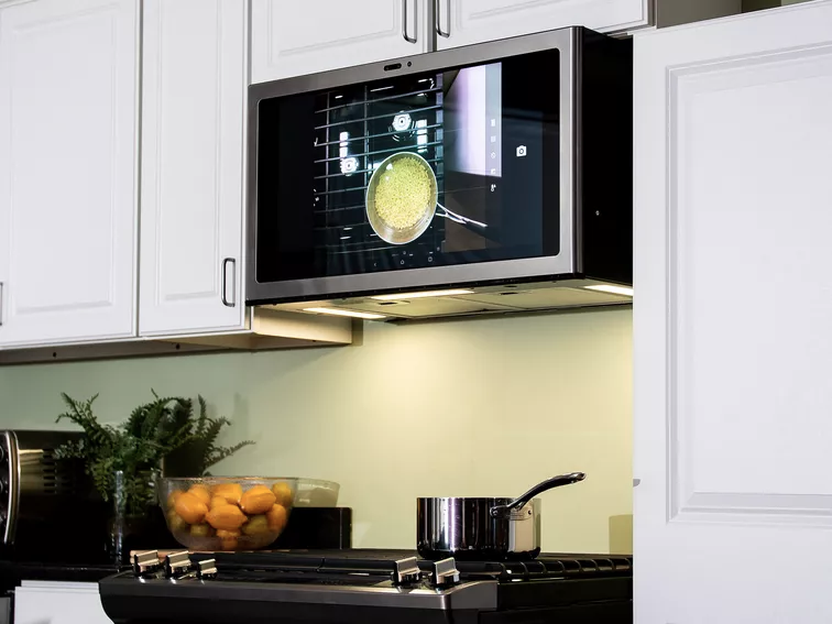 Ge Appliances New Kitchen Hub Is A Mega Touchscreen That Can Microwave Ge Kitchen Smart Kitchen Best Smart Home