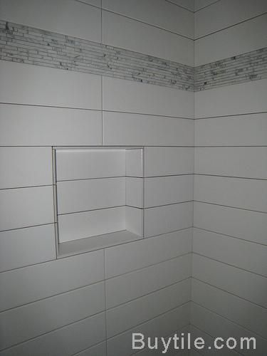 4x18 Tile Long Rectangle Thinking This For My Bathroom With Matching Grout Like Size Tiles Mosaic