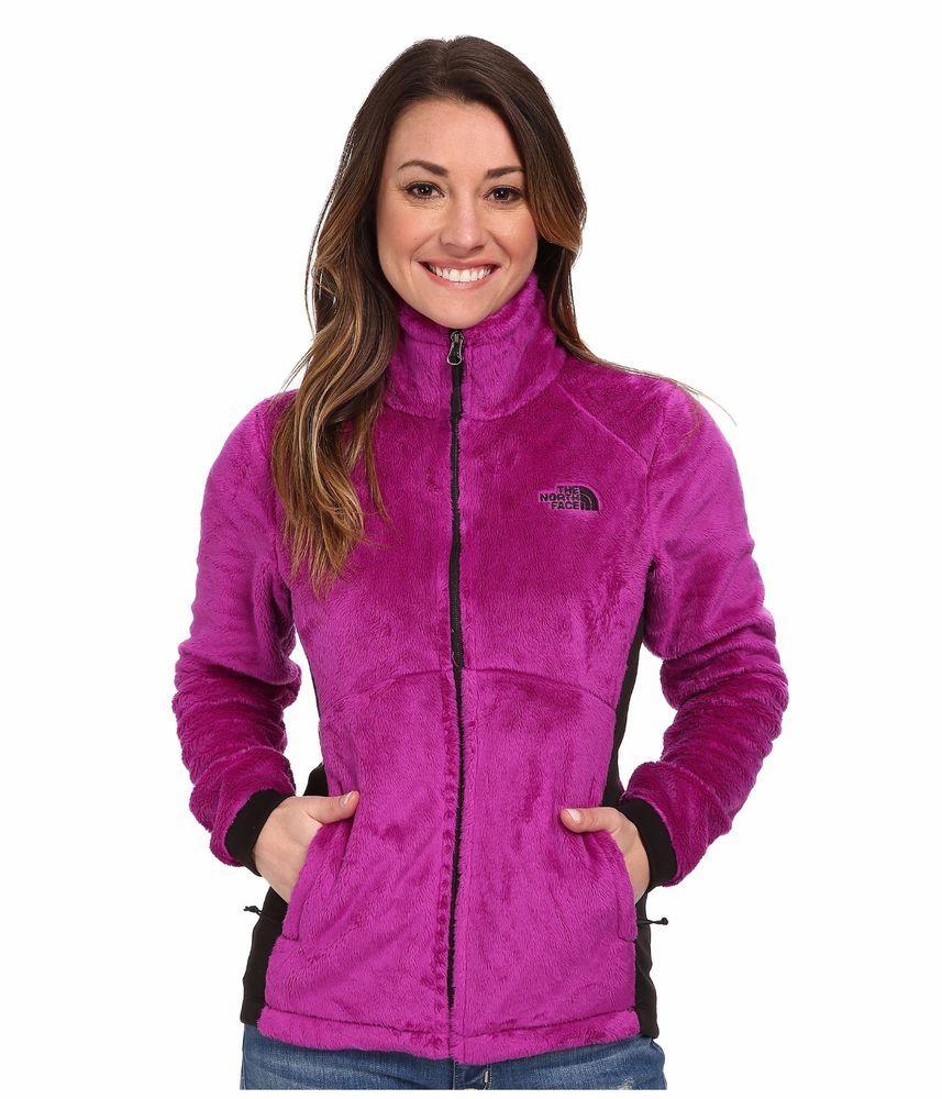 New The North Face Women S Tech Osito Fleece Jacket Zip Coat Purple Black M L North Face Women Zip Coat Jackets [ 1000 x 857 Pixel ]