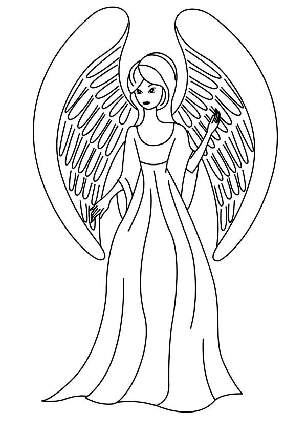 Angels Picture Of Beautiful Coloring Page