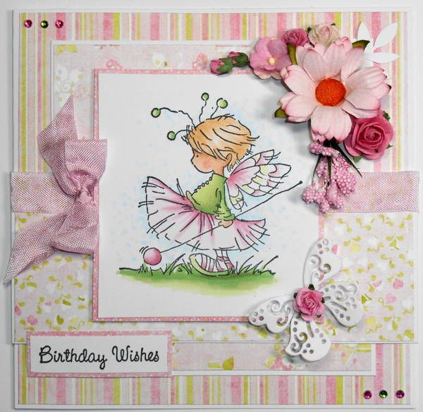 Cute Fairy Card For A Girls Birthday What A Pretty And Fresh