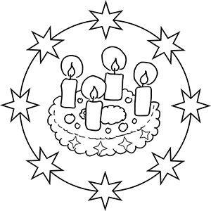 Gratis Malvorlagen Adventskranz My Blog