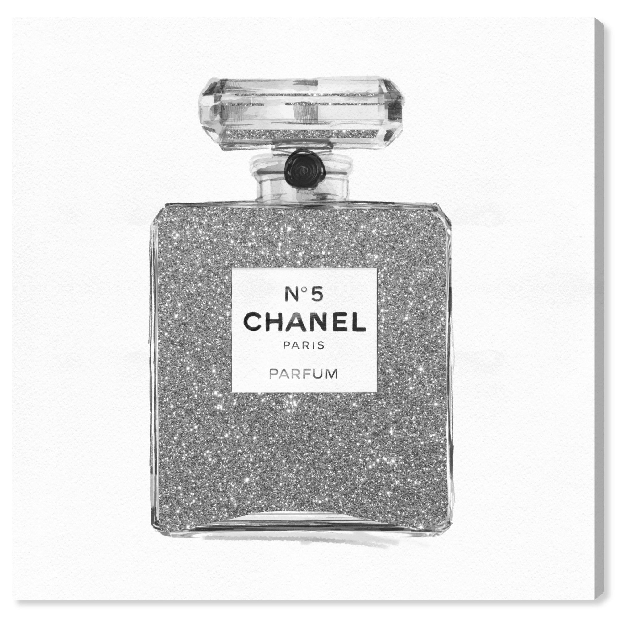 Runway Avenue Fashion And Glam Wall Art Canvas Prints Silver Classic Number 5 Perfumes Gray White Walmart Com Chanel Wall Art Glam Wall Art Fashion Wall Art