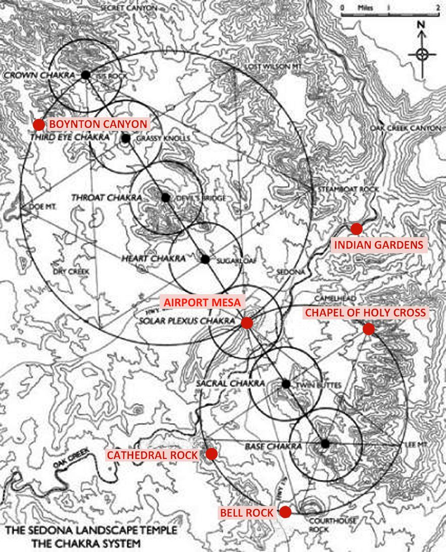 Sedona Vortex Map Map of Vortexes in Sedona | Sedona Vortex Map, Nicholas Mann  Sedona Vortex Map