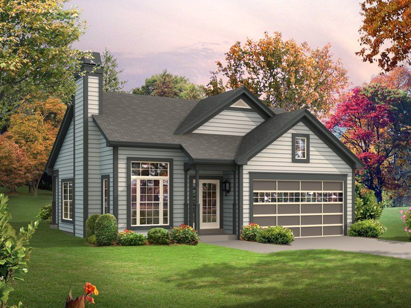 Elevation of Cabin Colonial Cottage Country Ranch