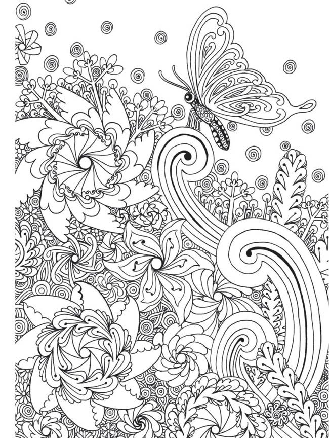 Zen Garden Colouring Book, Zentangle inspired art by Wei ...