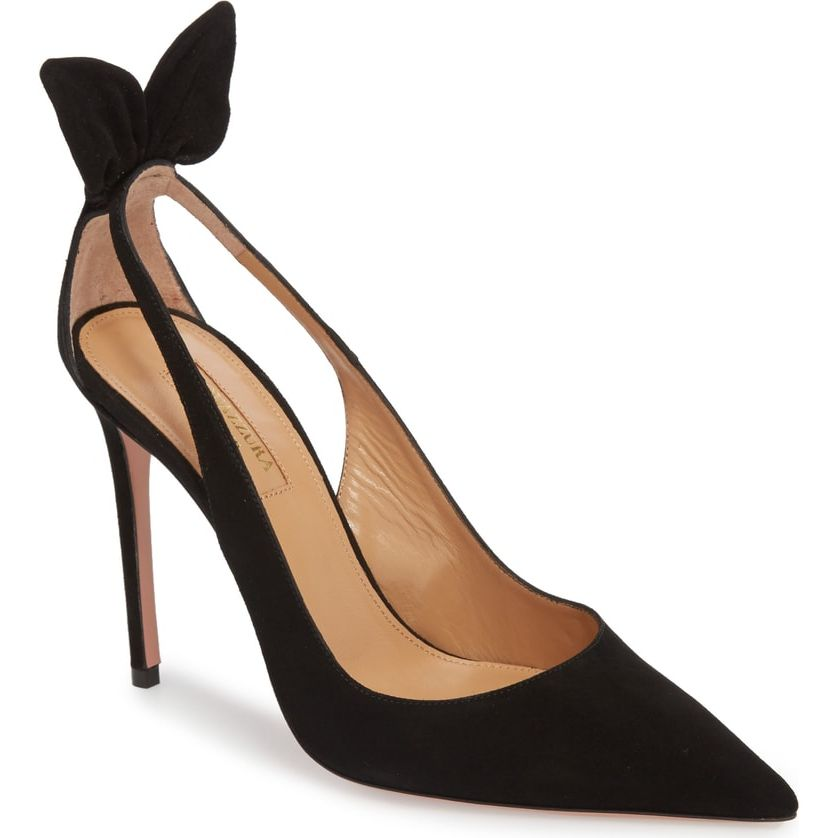 0b23c3ec0be1 Aquazzura  Deneuve  Bow Pointy Toe Pump as seen on Meghan Markle ...