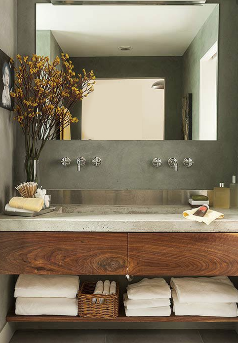 With Numerous Stylish Ways To Use Concrete In Your Bathroom, Its Becoming  Increasingly Popular Due To Its Durability, Clean Lines And  Cost Effectiveness.