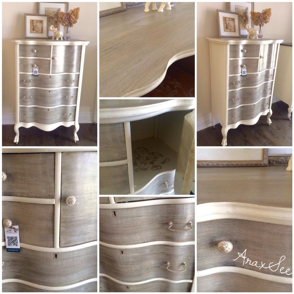 One More Unique Curved Wood Vintage Dresser ,this French